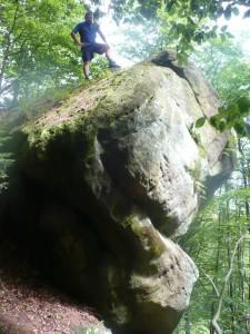 Kamień (717 m npm), wychodnia skalna