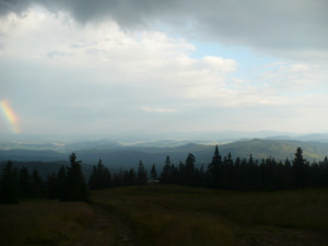 Widok z Rysianki na Słowację