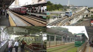 Różne typy pojazdów szynowych (lokalne, jednoszynowe, linowe, tramwaje)