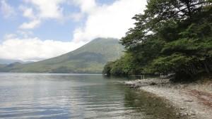 Jezioro Chuzenji u podnóża Nantai