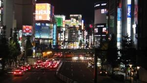 Tokio nocą, dzielnica Shinjuku