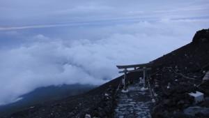 Wejście na górę Fudżi wiedzie przez tori