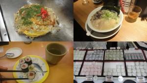 Okonomiyaki, ramen, sushi i daifukumochi