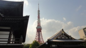 Tokyo tower. Niegorsze widoki można zobaczyć nieodpłatnie z budynku rządowego w Shinjuku