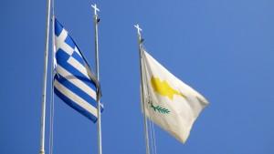 Flaga Grecji i Cypru