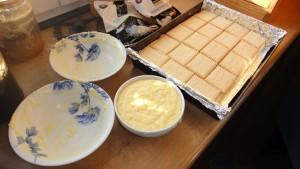 Ciasto kokosowe w przygotowaniu
